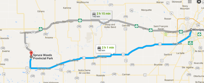 map to SW